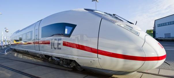 Velaro-Triebzug 4701 auf der Innotrans 2012 (c) Foto: Siemens